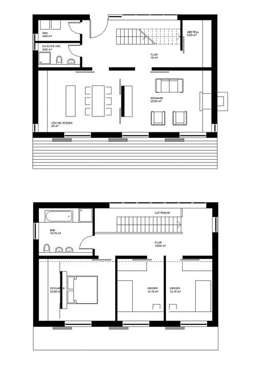 Grundriss einfamilienhaus architekt  Architekten